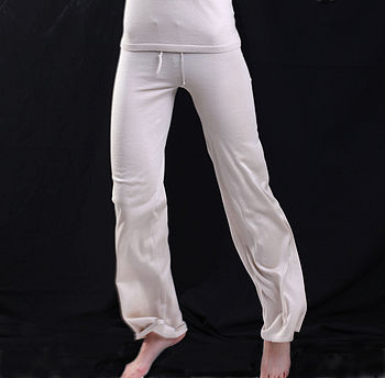 Silk Cashmere Pants - Silk Beige