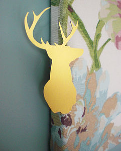 Silhouette Stag Head Brooch - pins & brooches