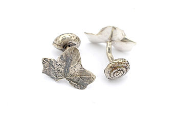 Ivy and Snail Cufflinks