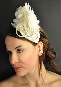 Feather Flowers Fascinator