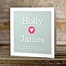 Personalised Loveheart Wedding Day Card