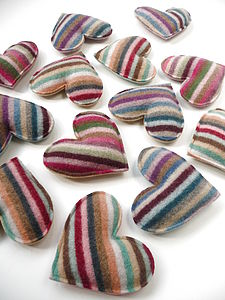Merino Lambswool Lavender Heart - ornaments