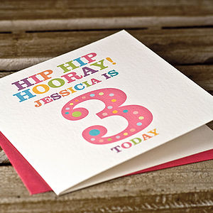Personalised Age Birthday Card - birthday cards
