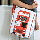 Big Red Bus Messenger Bag