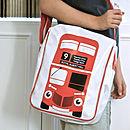 Big Red Bus Messenger Bag