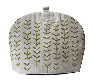 Hand Made Tea Cosy Green Sprigs - kitchen accessories
