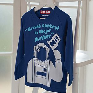 Personalised Major Tom Long Sleeved T Shirt - personalised children's clothing