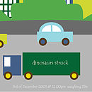 'City Traffic' Personalised Poster (light green colour)