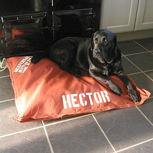 Personalised Recycled Sailcloth Pet Bed