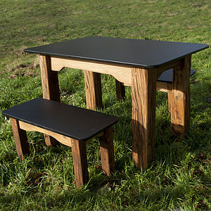 Slate Table And Benches - garden furniture