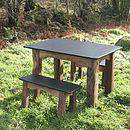 stone table top in garden