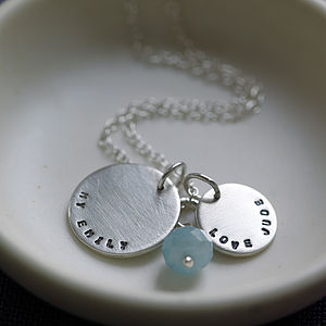 Personalised Amazonite Necklace - necklaces & pendants