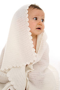 Vintage Knit Cashmere Baby Blanket - clothing