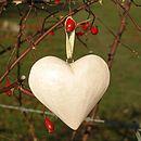 Small Natural Wooden Heart