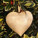 Large Natural Wooden Heart
