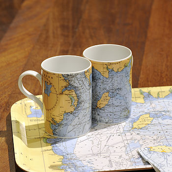 Irish Sea Chart Tea Mug
