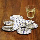 Fish Shoal Coasters with coordinating napkin