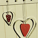 Galvanised Heart Decorations S/Two