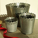Galvanised Planters S/Three