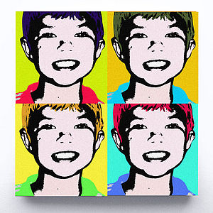 Personalised Funky Pop Art Canvas