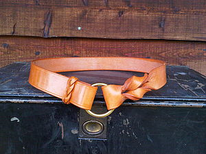 Twist Belt In Bridle Leather
