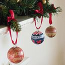 Set of Four Personalised Christmas Baubles