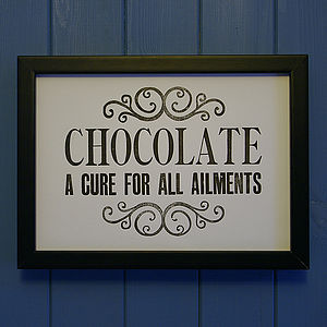 Letterpress Print: Chocolate