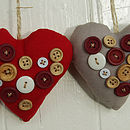 S/Two Button Hearts