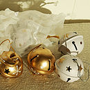 Set Of Five Christmas Bells