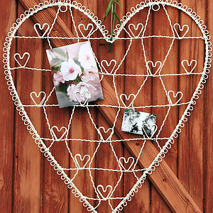 Wire Heart Card And Photograph Holder - noticeboards