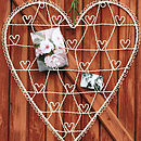 Wire Heart Card And Photograph Holder