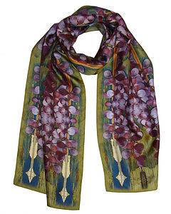 Green Heart Silk Scarf - hats, scarves & gloves