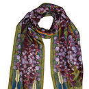 Green Heart Digital Print Silk Scarf
