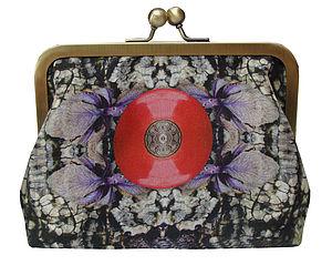 Red Spot Digital Print Silk Bag - bags & purses