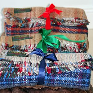 Checked Recycled Wool Blanket Or Picnic Rug - throws, blankets & fabric