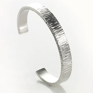 Silver Heavy Duty Fitted Open Bangle