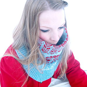 Fairisle Knitted Neck Cowl