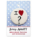 Personalised 'I love...' Badge