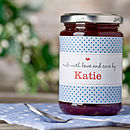 Personalised label blue 2