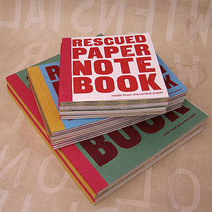 Rescued Paper Notebook - secret santa