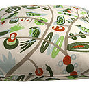 Bird tree cushion zip
