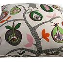 Strange fruit cushion zip