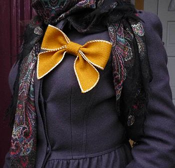 Harris Tweed Yellow Bow Peep