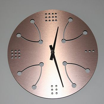 Copper Wishing Wall Clock