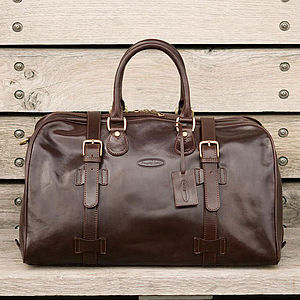 'Flero' Italian Leather Holdall - blow the budget for her