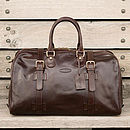 The Finest Italian Leather Holdall For Men. 'The Flero'