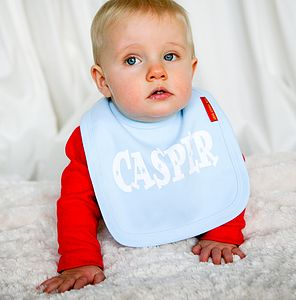 Personalised 'Hearts and Stars' Bib