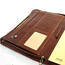 Tan Brown Leather Folder