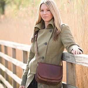 'Medolla' Leather Saddle Handbag - bags & purses