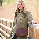 'Medolla' Leather Saddle Handbag